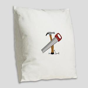 Tool Time Burlap Throw Pillow