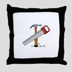 Tool Time Throw Pillow