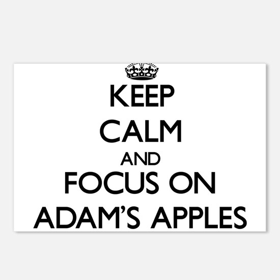 Keep Calm And Focus On AdamS Apples Postcards (Pac