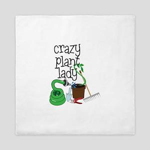 Crazy Plant Lady Queen Duvet