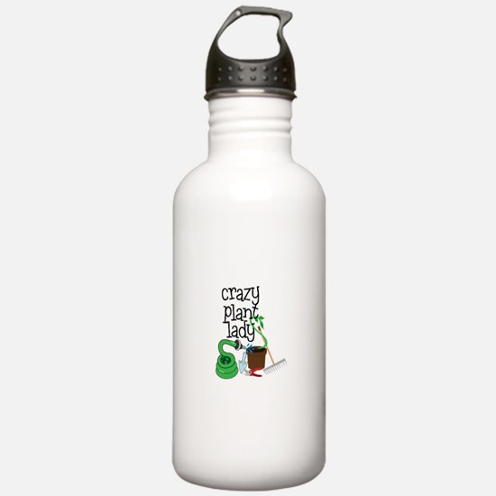 Crazy Plant Lady Water Bottle