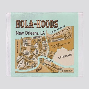 NOLA-Hoods Throw Blanket