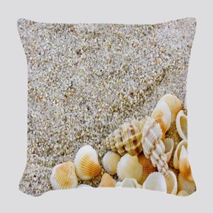 Beautiful Sea Shells Woven Throw Pillow