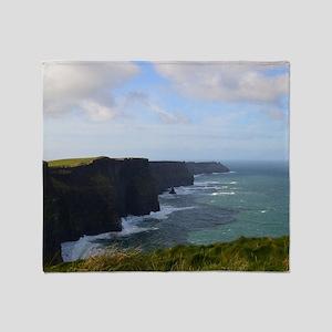 Sea Cliffs in Ireland Throw Blanket