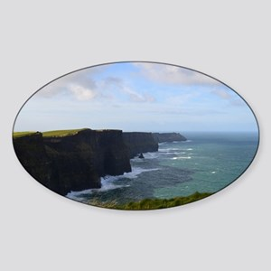 Sea Cliffs in Ireland Sticker (Oval)