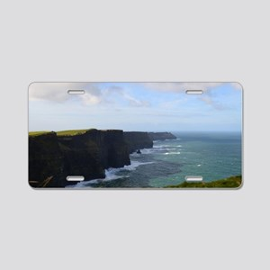 Sea Cliffs in Ireland Aluminum License Plate