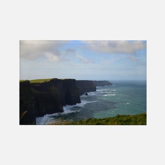 Sea Cliffs in Ireland Rectangle Magnet