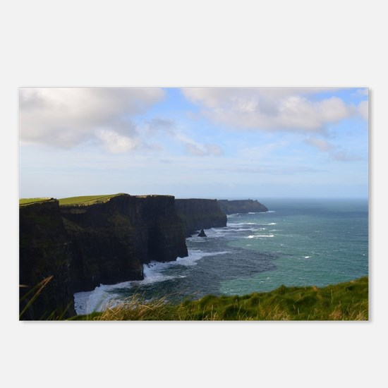 Sea Cliffs in Ireland Postcards (Package of 8)