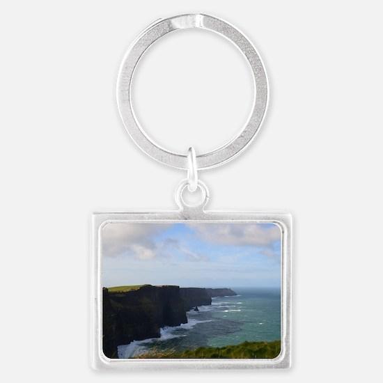 Sea Cliffs in Ireland Landscape Keychain