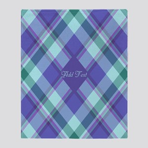 Spring Lilac Plaid Throw Blanket