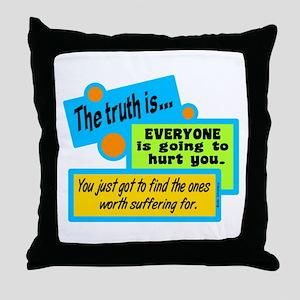 The Truth-Bob Marley Throw Pillow