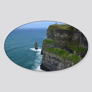 Needle Cliffs of Moher Sticker (Oval)