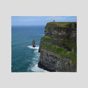 Needle Cliffs of Moher Throw Blanket
