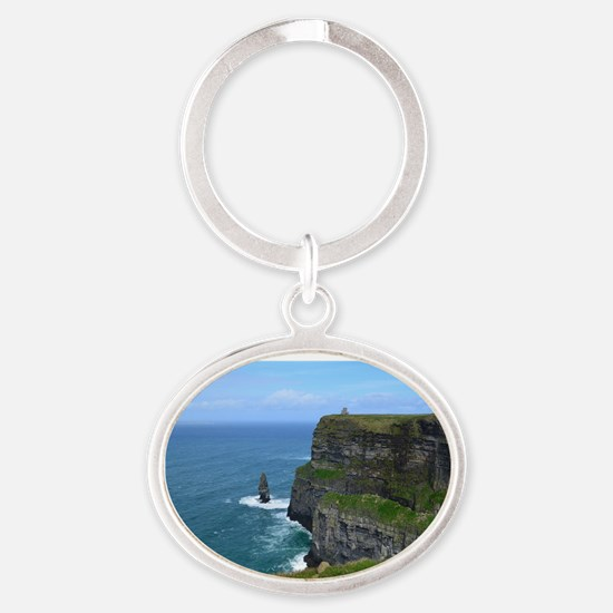 Beautiful Cliffs of Moher Oval Keychain