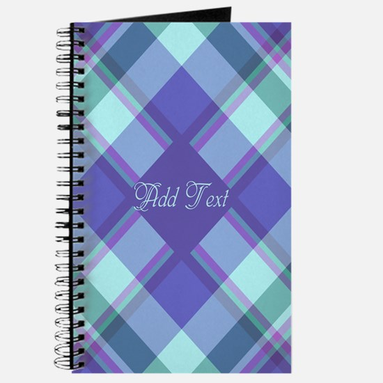 Spring Lilac Plaid Journal
