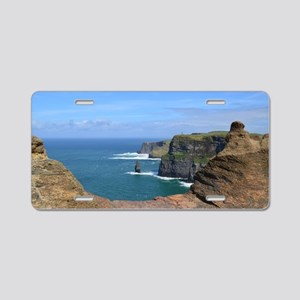 Irish Sea Cliffs Aluminum License Plate