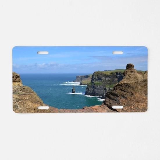 Irish Sea Cliffs Aluminum License Plate