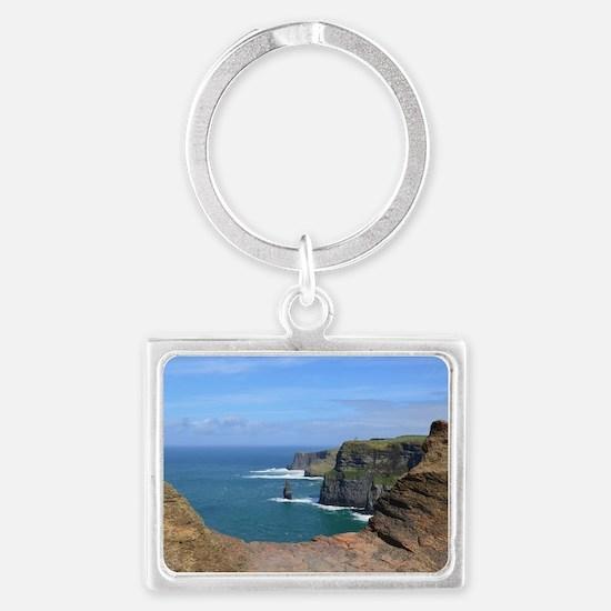 Irish Sea Cliffs Landscape Keychain