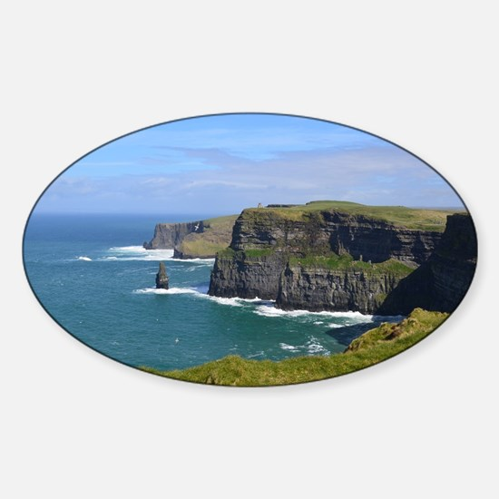 Cliffs of Moher Sticker (Oval)