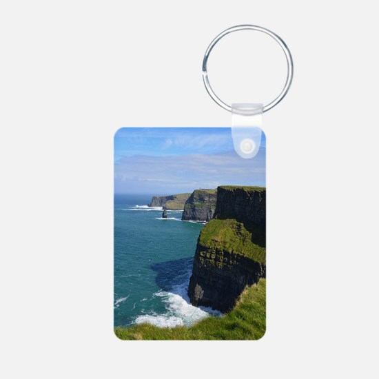 Gorgeous Cliffs of Moher V Aluminum Photo Keychain
