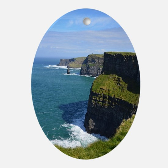 Gorgeous Cliffs of Moher Views Oval Ornament