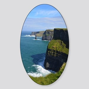 Gorgeous Cliffs of Moher Views Sticker (Oval)