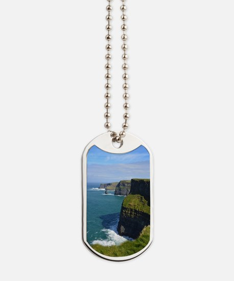 Gorgeous Cliffs of Moher Views Dog Tags