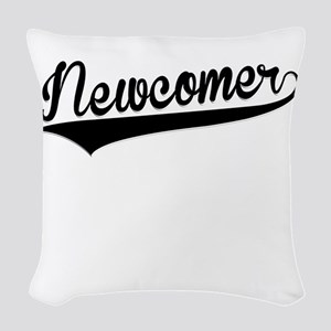 Newcomer, Retro, Woven Throw Pillow