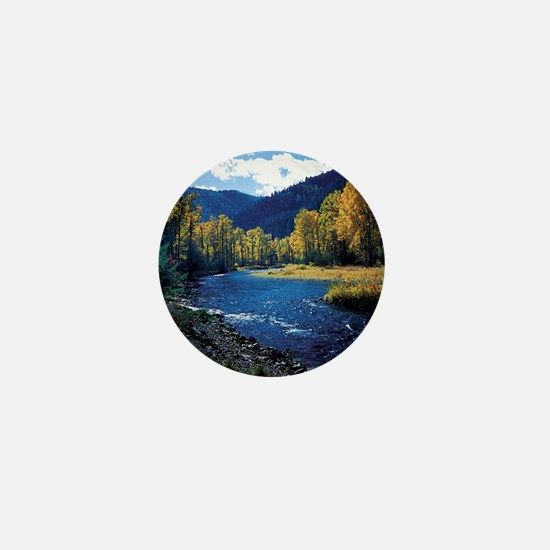 Mountain  Stream Mini Button