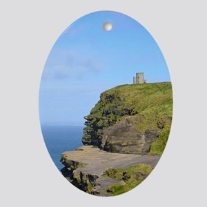 O'Brien's Tower Cliffs of Moher Oval Ornament