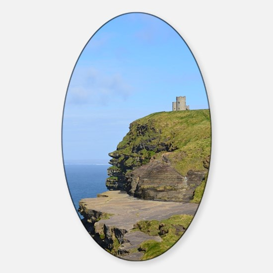 O'Brien's Tower Cliffs of Moher Sticker (Oval)