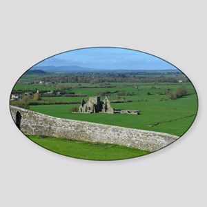 Hoare Abbey Rock of Cashel Sticker (Oval)