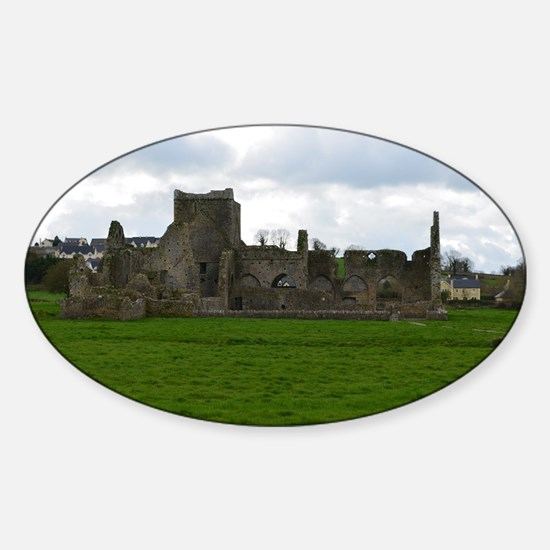 St Mary's Abbey Ruins Sticker (Oval)
