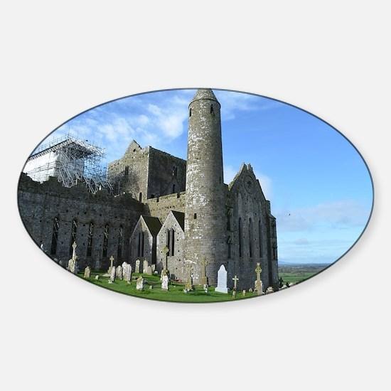 Tower Rock of Cashel Sticker (Oval)
