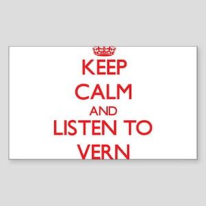 Keep Calm and Listen to Vern Sticker