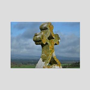 Cross at Rock of Cashel Rectangle Magnet