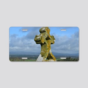 Cross at Rock of Cashel Aluminum License Plate