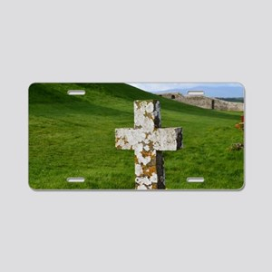 Christian Cross at Cashel Aluminum License Plate