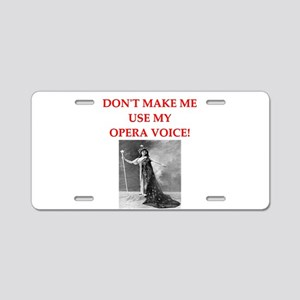 OPERA Aluminum License Plate