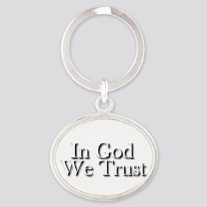 In God we trust Oval Keychain