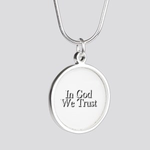 In God we trust Silver Round Necklace