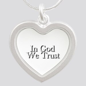 In God we trust Silver Heart Necklace