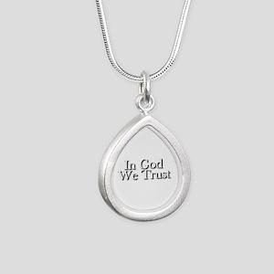 In God we trust Silver Teardrop Necklace