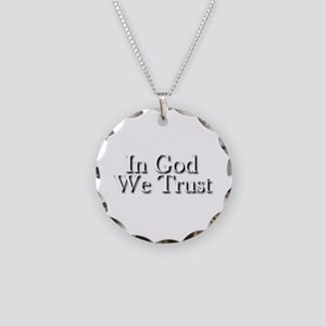 In God we trust Necklace Circle Charm