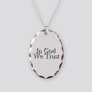 In God we trust Necklace Oval Charm