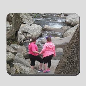 my girls on the Rocks Mousepad