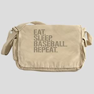 Eat Sleep Baseball Repeat Messenger Bag