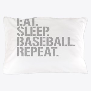 Eat Sleep Baseball Repeat Pillow Case