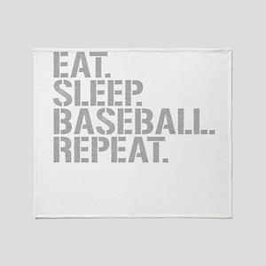 Eat Sleep Baseball Repeat Throw Blanket