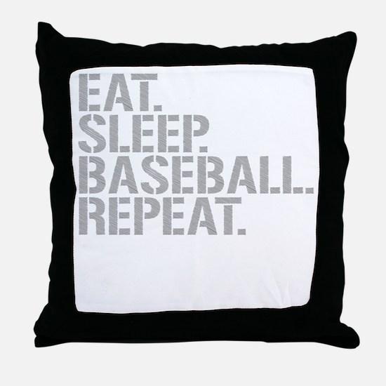 Eat Sleep Baseball Repeat Throw Pillow